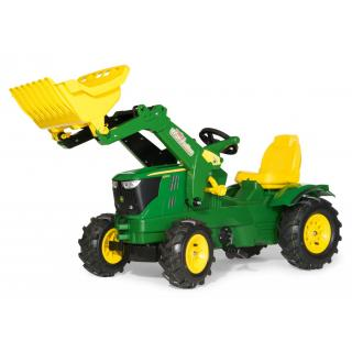 Traktor John Deere 6210R gumi kolesa z nakladalcem - Vozila na pedala