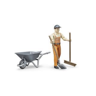 Igrača  figura komunalni delavec  - Figure in tematski dodatki