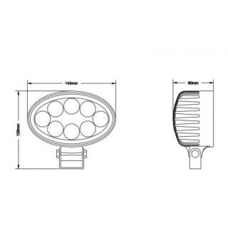 Luč delovna elipsa 8 X LED - Delovne luči