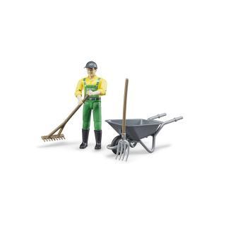 Igrača figura kmetovalec s priborom  - Figure in tematski dodatki