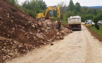Gradnja vodohrana v naselju Vrh pri Dolskem, 5. maj 2020