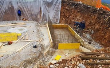 Gradnja vodohrana v naselju Vrh pri Dolskem, 6. maj 2020