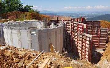 Gradnja vodohrana v naselju Vrh pri Dolskem, 3. junij 2020