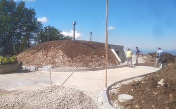 Gradnja vodohrana v naselju Vrh pri Dolskem, 14. julij 2020