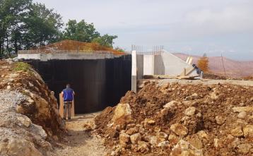 Gradnja vodohrana v naselju Vrh pri Dolskem, 17. junij 2020