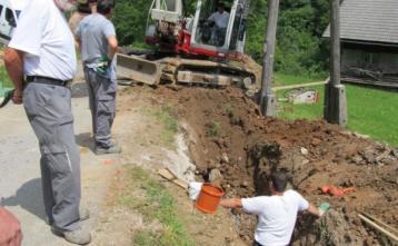 Gradnja kanalizacije v Podgori