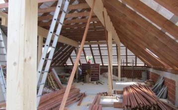 Izdelava novega lesenega ostrešja Kulturnega doma