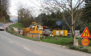 Izdelava podboja por regionalno cesto po sistemu Mikrotunelinga