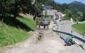 Gradnja vodovoda v Podgori