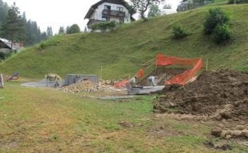 Začetek gradnje klorinatorske postaje v Hotoveljski grapi