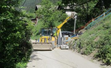 Gradnja prečrpalne postanje na Trebiji