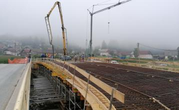 Betoniranje mostne konstrukcije