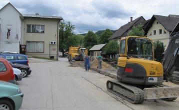 Gradnja vodovoda v Poljanah