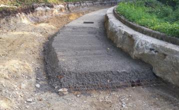 Hlavče Njive - sanacija temeljnih tal na usadu
