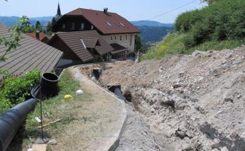 Gradnja kanalizacije v Javorjah