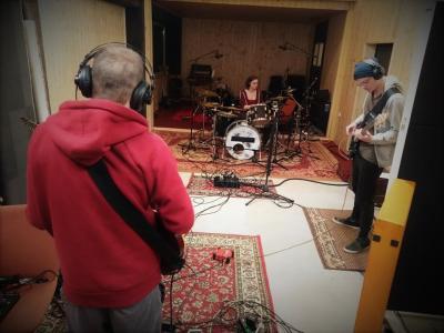 Snemanje glasbene skupine Dunraven. (Foto: MD Bistrica ob Sotli)