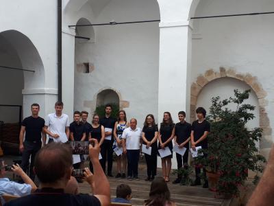 Utrinek z lanskoletnega zaključnega koncerta seminaristov za klarinet pod mentorstvom profesorja Andreja Zupana. (Foto: Kozjanski park)