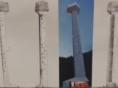 Slatinčani so se na referendumu odločili, da podprejo 106-metrski stolp. (Na fotografiji je projekcija stolpa, foto: Štajerski val)