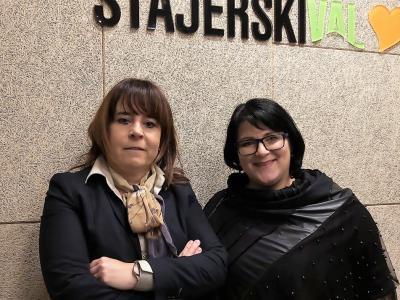 Barbara Soršak, izvršna direktorica družbe Unitur Zreče, in gostiteljica radijskega srečanja na Štajerskem valu Greta Kokot Rajković