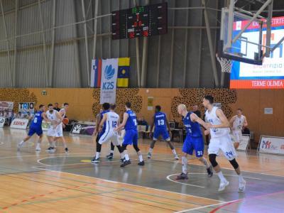 Košarkarji Podčetrtka in Rogaške so se srečali na zadnji tekmi prvega dela prvenstva, zmagali so Slatinčani, s 76:70 Kako bo v ligi za prvaka? (Foto: FB KK Podčetrtek)