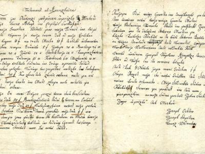 Pred 200 leti je nastala oporoka upokojenega vojaka Janeza Sušca. (Foto: Zgodovinski arhiv Celje)