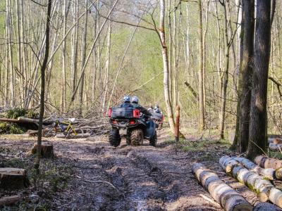 Vožnja s štirikolesniki in motorji je po gozdovih zelo pogosta, a zelo prizadene gozd in njegove prebivalce, opozarjajo v zavodu za gozdove in Kozjanskem parku. (Fotografija je simbolična. Foto: Pixabay)