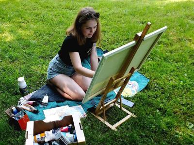 Pogovarjali smo se z mlado celjsko umetnico Katjo Kovše. (Foto: FB Katja Kovše)