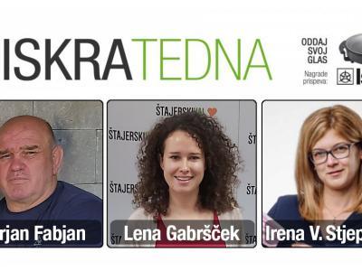 Izjave finalistke za iskro tedna so izrekli Marjan Fabjan, Lena Gabršček in Irena Vozlič Stjepčević. (Foto: ŠV, Lambrechtov dom)