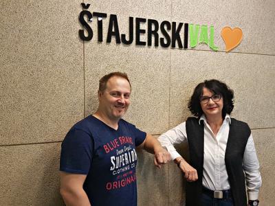 Takole poln energije je bil Boris Kidrič na našem radijskem srečanju s Tanjo Jurjec junija, zatem ga je covid-19 za dolgo časa položil v posteljo. (Foto. Štajerski val)