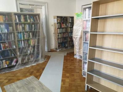 Knjižnica v Slovenski Bistrici bo znova odprla vrata po koncu obnovitvenih del. (Foto: fb Knjižnica Josipa Vošnjaka Slovenska Bistrica)