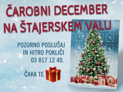 Čarobni december na Štajerskem valu prinaša darila!