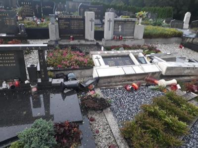 Škode na pokopališču Kristan Vrh je po prvih ocenah koncesionarja, družbe Gekott, za okoli 60 tisoč evrov.(Foto: Radko Kvas)