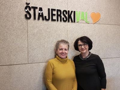 Milena Miklavčič v našem radijskem srečanju.