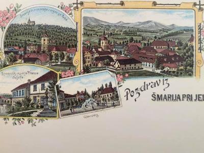 Prvo razglednico je Šmarje dobilo le nekaj let za Ljubljano in Rogaško Slatino. (Foto: FB Jože Čakš)