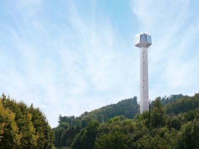 Stolp Kristal je razburjal in delil mnenja je že v prejšnjem mandatu župana Branka Kidriča. (Foto: Občina Rogaška Slatina)