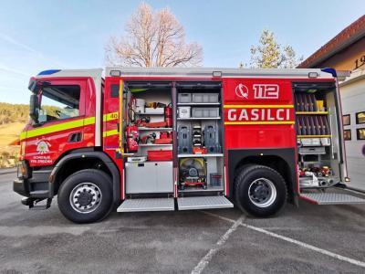 V intervenciji je sodelovalo tudi PGD Gorenje pri Zrečah. Na fotografiji je njihov najnovejši gasilski avto. (Foto: PGD Gorenje pri Zrečah)