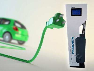 Na polnilnico v Poljčanah se lahko priključita dva električna avtomobila hkrati. (Foto: Občina Poljčane/Radio Štajerski val)