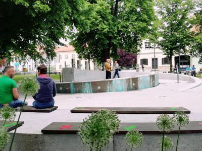 To sezono pri žalski fontani beležijo večinoma slovenske goste. (Foto: FB Fontana piv Zeleno zlato)