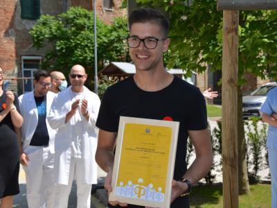 Milan Ninić je med drugim prejel nazive Naj prostovoljec občine Celje za leto 2012, bronasti grb občine Celje za leto 2017 in  državno priznanje za izjemno prostovoljsko delo na področju socialne dejavnosti v letu 2016. (Foto: Slovenska filantropija)