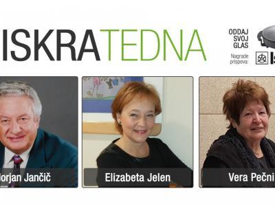 Tokrat se za vaše glasove potegujejo Florjan Jančič, Elizabeta Jelen in Vera Pečnik.