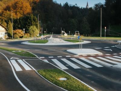Med gradbeni projekti podjetja GAAL gradnje v letu 2020 je tudi izgradnja krožišča v Lesičnem v občini Kozje. (Foto: GAAL gradnje d.o.o)