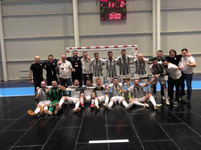 Z zmago nad Kazahstanom so si Dobovčani priborili finalni turnir lige prvakov. (Foto: Futsal klub Dobovec)