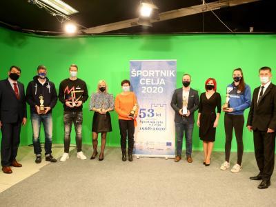 Letošnji prejemniki nazivov najboljših športnikov v Celju. (Foto: Športna zveza Celje)