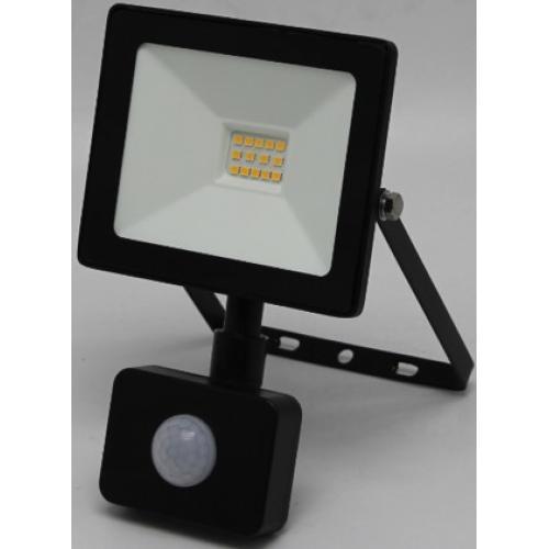 LED reflektor, stenski, s PIR senzorjem, INDUS-S, pravokoten, 10W, SMD, hladno bela, 1000lm, IP44, temno siv, 1/24, (R4) - Luči