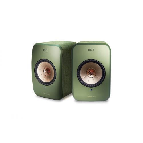 KEF LSX Wireless zvočniki zelena