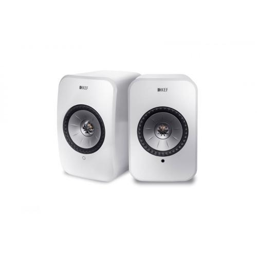 KEF LSX Wireless zvočniki bela
