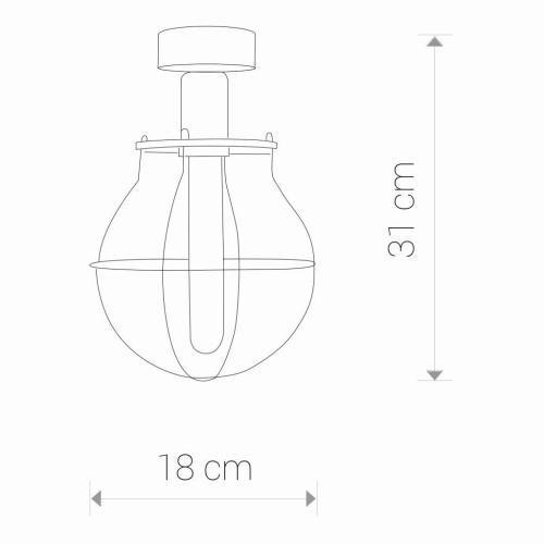 Svetilka, stropna, MANUFACTURE I, IP20, črna - Nadgradne stropne luči
