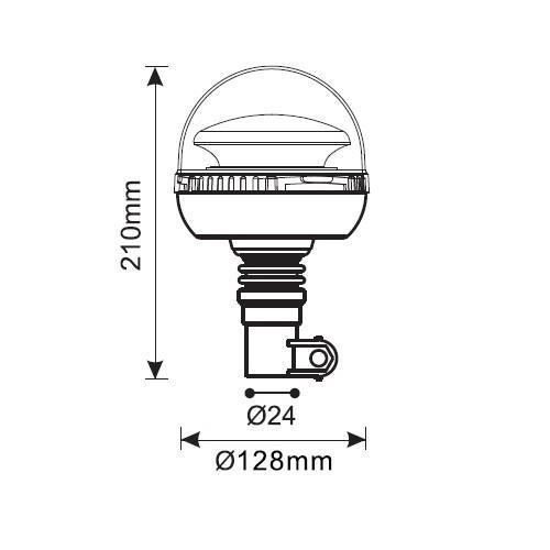 Luč rotacijska led natična gibljiva - Rotacijske luči
