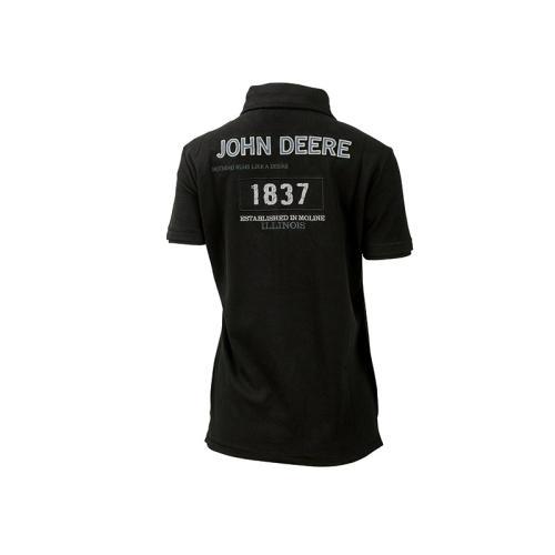 Majica John Deere Ladies black polo shirt - Promocijska oblačila