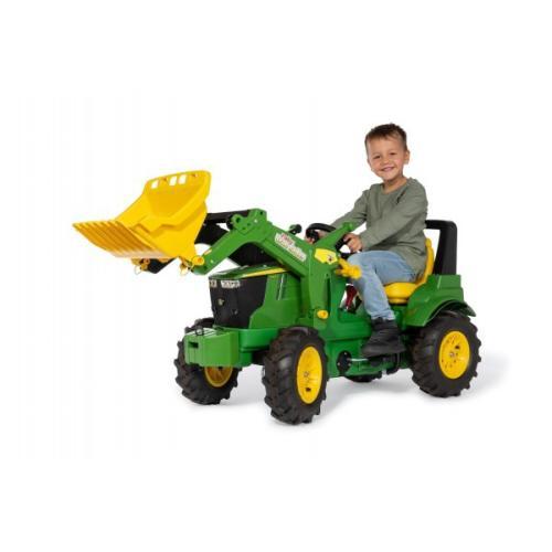 Traktor John Deere 7310 gumi kolesa z nakladalcem - Vozila na pedala